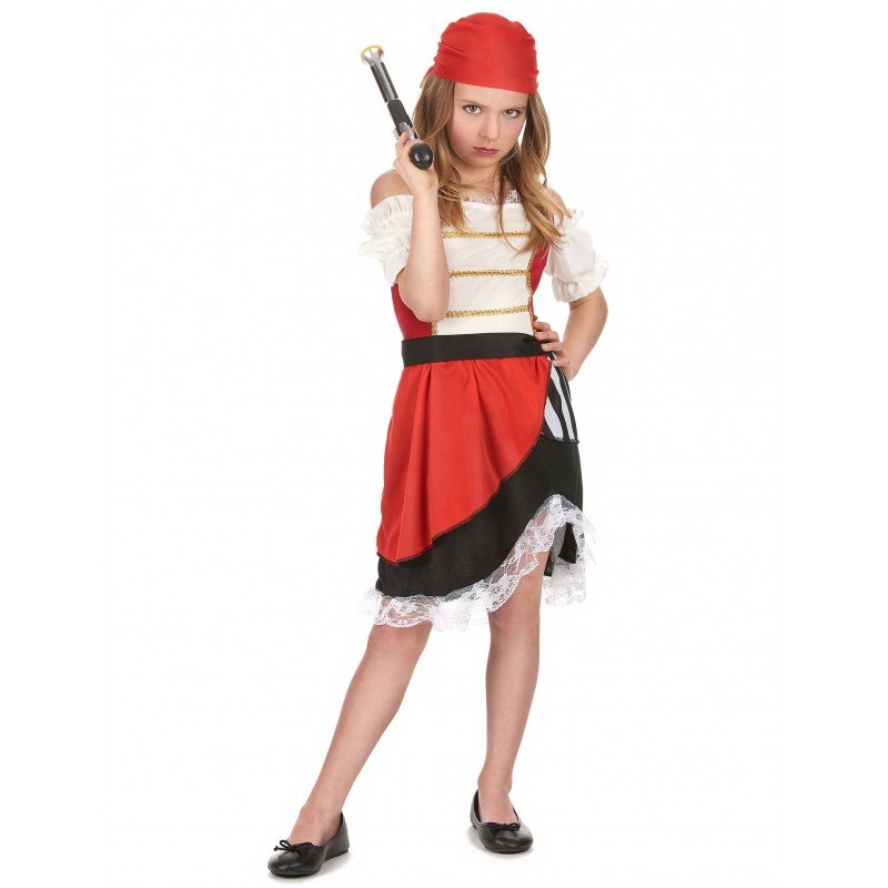 d guisement pirate fille costumes enfants a la porte bleue. Black Bedroom Furniture Sets. Home Design Ideas