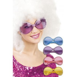 Lunettes disco strass