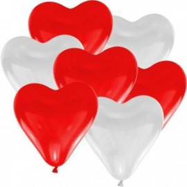 Ballons gonflables coeurs