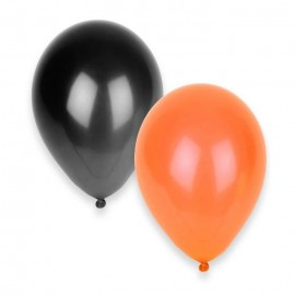 Ballons gonflables Halloween orange et noir