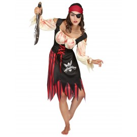 Costume Pirate Zombie femme Halloween déguisement adulte