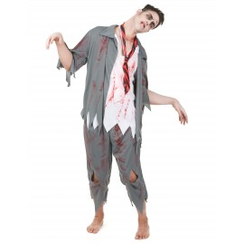 Costume Zombie homme Halloween déguisement adulte