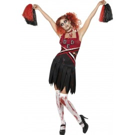 Costume Pom Pom Girl Zombie halloween déguisement adulte