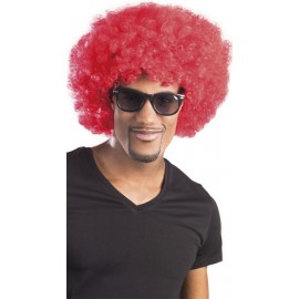 Perruque rouge afro / clown mixte adulte
