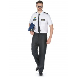 Costume Pilote d'avion homme déguisement adulte