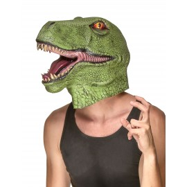 Masque dinosaure en latex adulte
