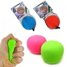 Balle anti stress fluo