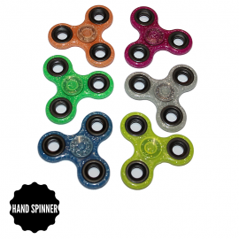 Hand Spinner transparent à paillettes toupie anti stress