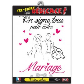 Tee-Shirt dédicace Mariage