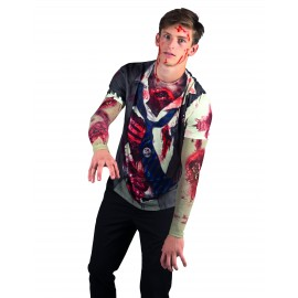 T-shirt Zombie adulte déguisement Halloween