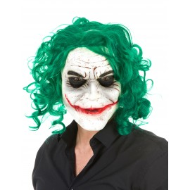 Masque arlequin Joker latex adulte Halloween