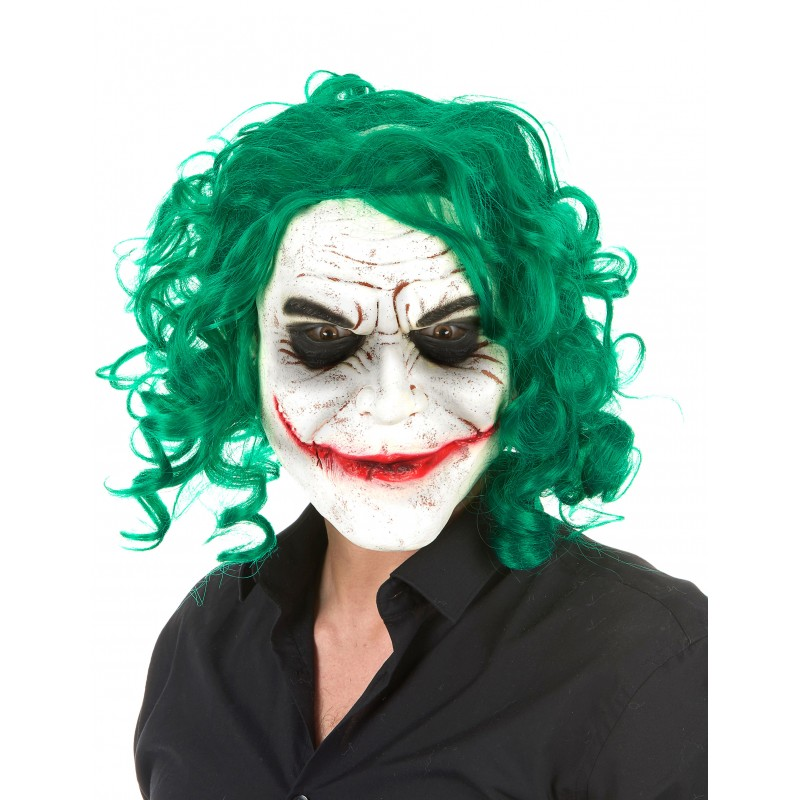 Masque arlequin joker latex masque halloween a la - Masque a imprimer halloween ...