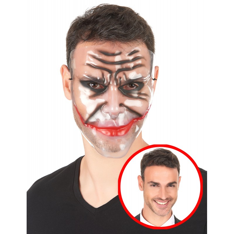 Masque Halloween transparent homme