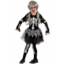 Costume squelette fille Halloween
