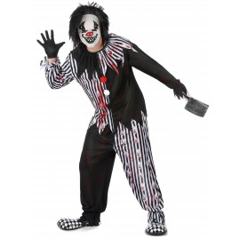 Costume Clown psychopathe homme déguisement Halloween
