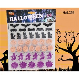 Stickers paillettes Halloween
