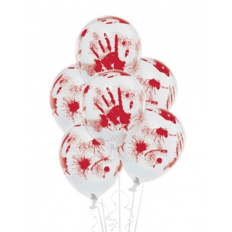 6 Ballons sang gonflables Halloween