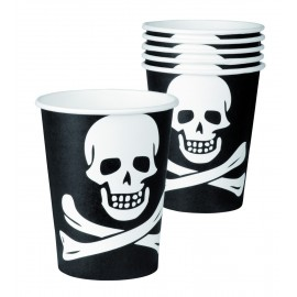 Gobelets en carton Pirate (lot de 6)