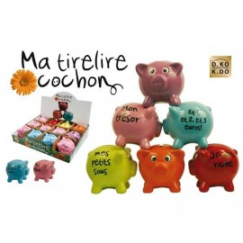 Tirelire Cochon message humour