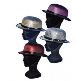 Chapeau melon adulte (4 couleurs assorties)