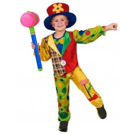 Déguisement Clown multicolore enfant