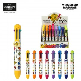 "Stylo 8 couleurs ""Monsieur Madame"""