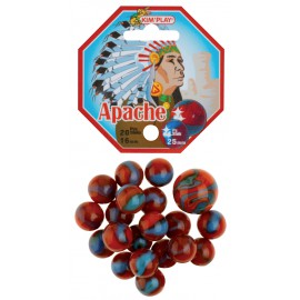 "Filet de 20 billes + 1 calot ""Apache"""