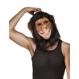 Masque singe latex adulte