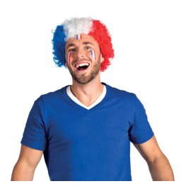 Perruque Afro Supporter France coupe du monde