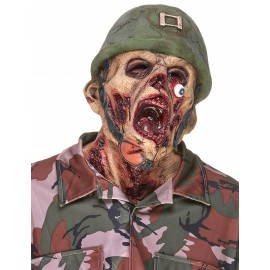 Masque soldat zombie latex adulte halloween