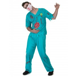 Déguisement Chirurgien zombie homme costume Halloween