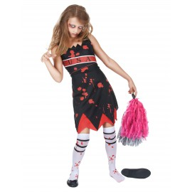 Déguisement pom pom girl zombie fille costume Halloween