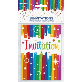Cartes d'invitation Anniversaire (lot de 8)