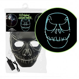 Masque néon Led Jack Nightmare squelette Halloween