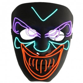 Masque néon Joker Halloween