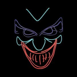 Masque néon Led Joker Nightmare Halloween