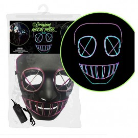 Masque néon Led Gaz Nightmare Halloween
