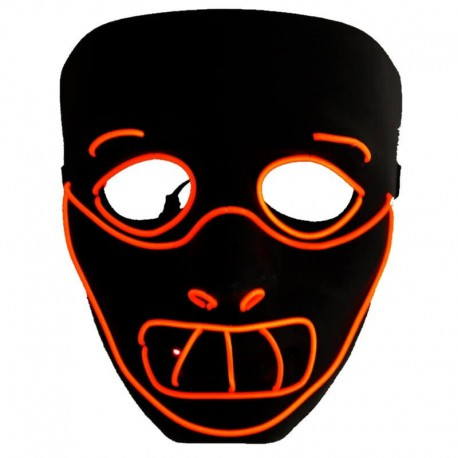 Masque néon Led Hannibal Lecter Nightmare Halloween
