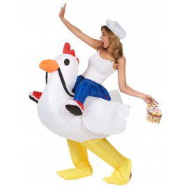 Déguisement gonflable poulet costume adulte