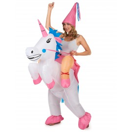 Déguisement gonflable licorne costume adulte
