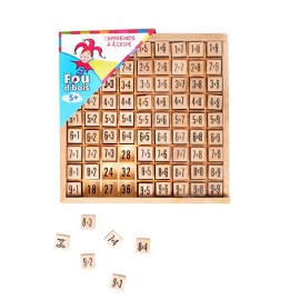 Table de multiplication jeu en bois