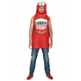 Déguisement ketchup costume adulte