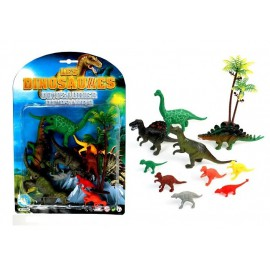 Dinosaures 11 figurines assorties (6 à 13 cm)