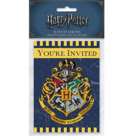 8 Cartes d'invitation Harry Potter anniversaire