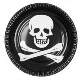 Assiettes en carton Pirate (lot de 6)