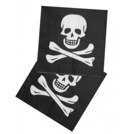 Serviettes en papier Pirate (lot de 12)