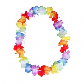 Collier de fleurs Hawai multicolore