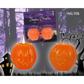 Bougie citrouille Halloween (lot de 2)