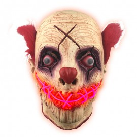 Masque Clown tueur latex avec Led Halloween