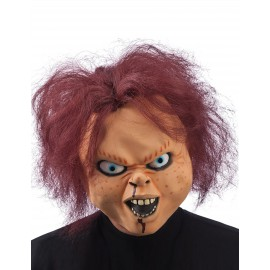 Masque latex poupée terrifiante Chucky Halloween